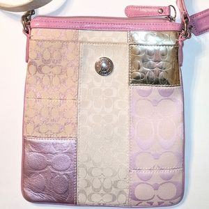 Authentic COACH Crossbody patchwork bag